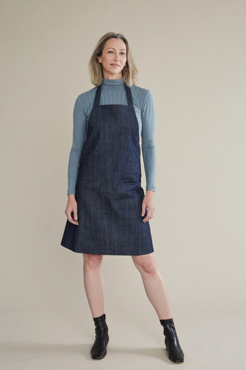Debora Rentsch Schürzenkleid Jeanskleid aus Biobaumwolle Laufmeter