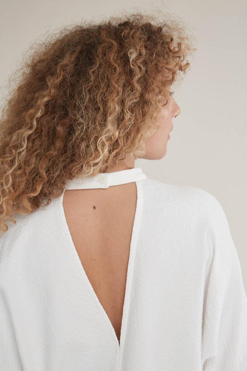 Laufmeter Manusha Bluse V-Ausschnitt Rücken