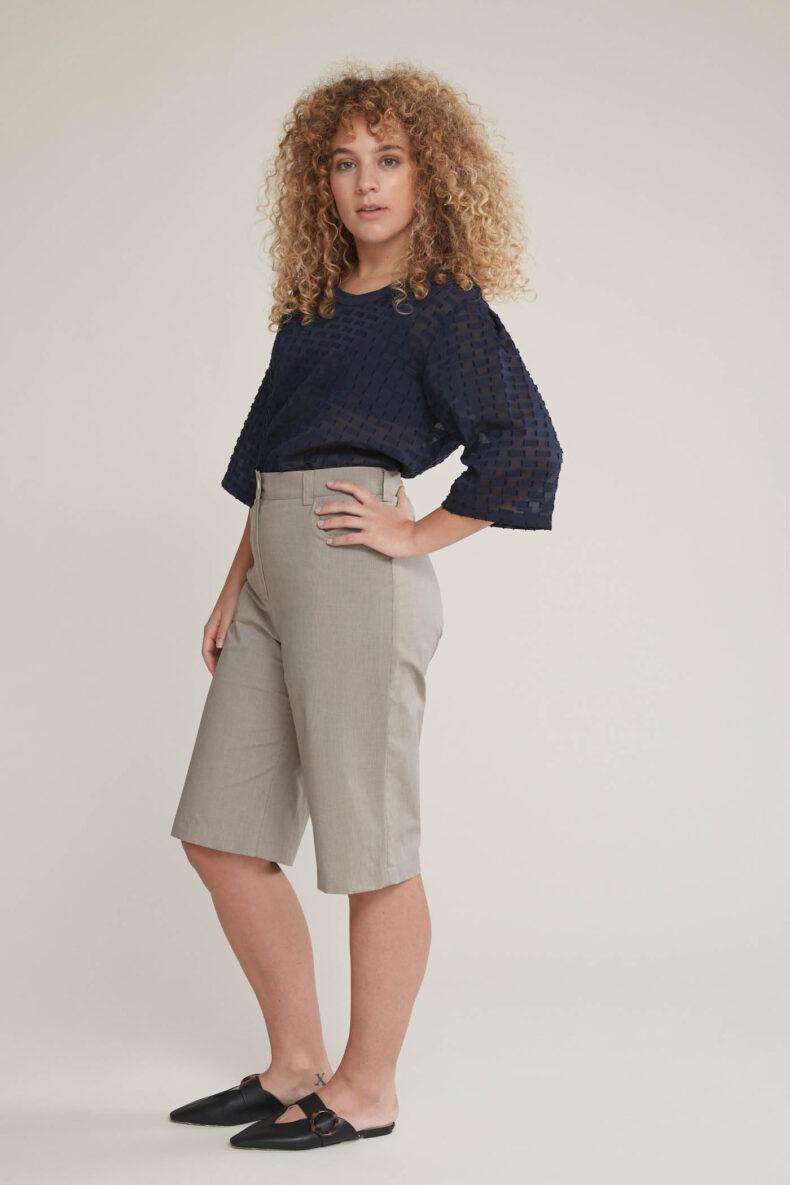 Laufmeter Nom Commun Oversize T-Shirt Calliope und Bermudas Sabrina