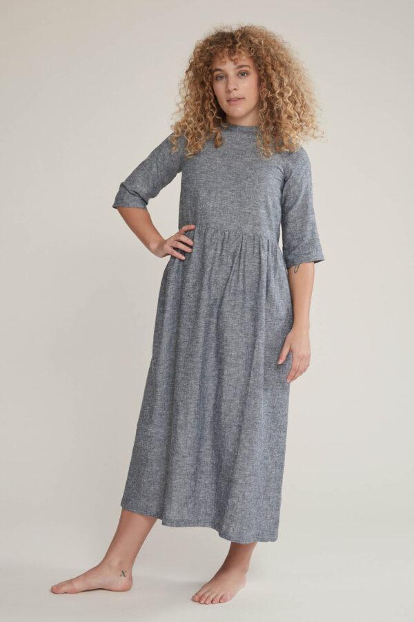 Laufmeter Tabitha Wermuth Kleid Mia Hanf/Tencel Nachhaltige Kleidung