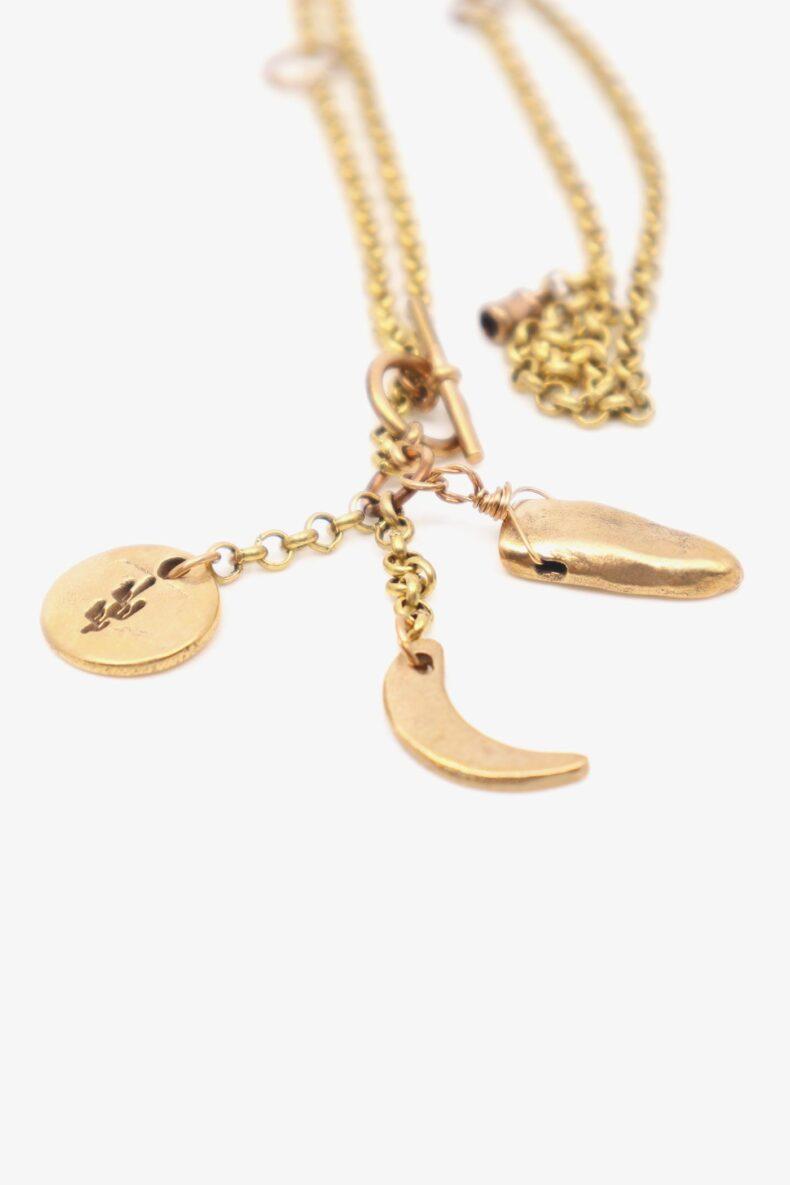 lili t. story necklace Halskette aus Bronze laufmeter