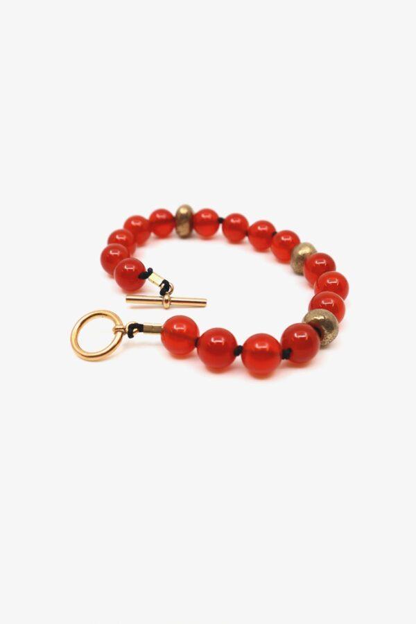 gem bronze bracelet lili t. laufmeter karneol armband