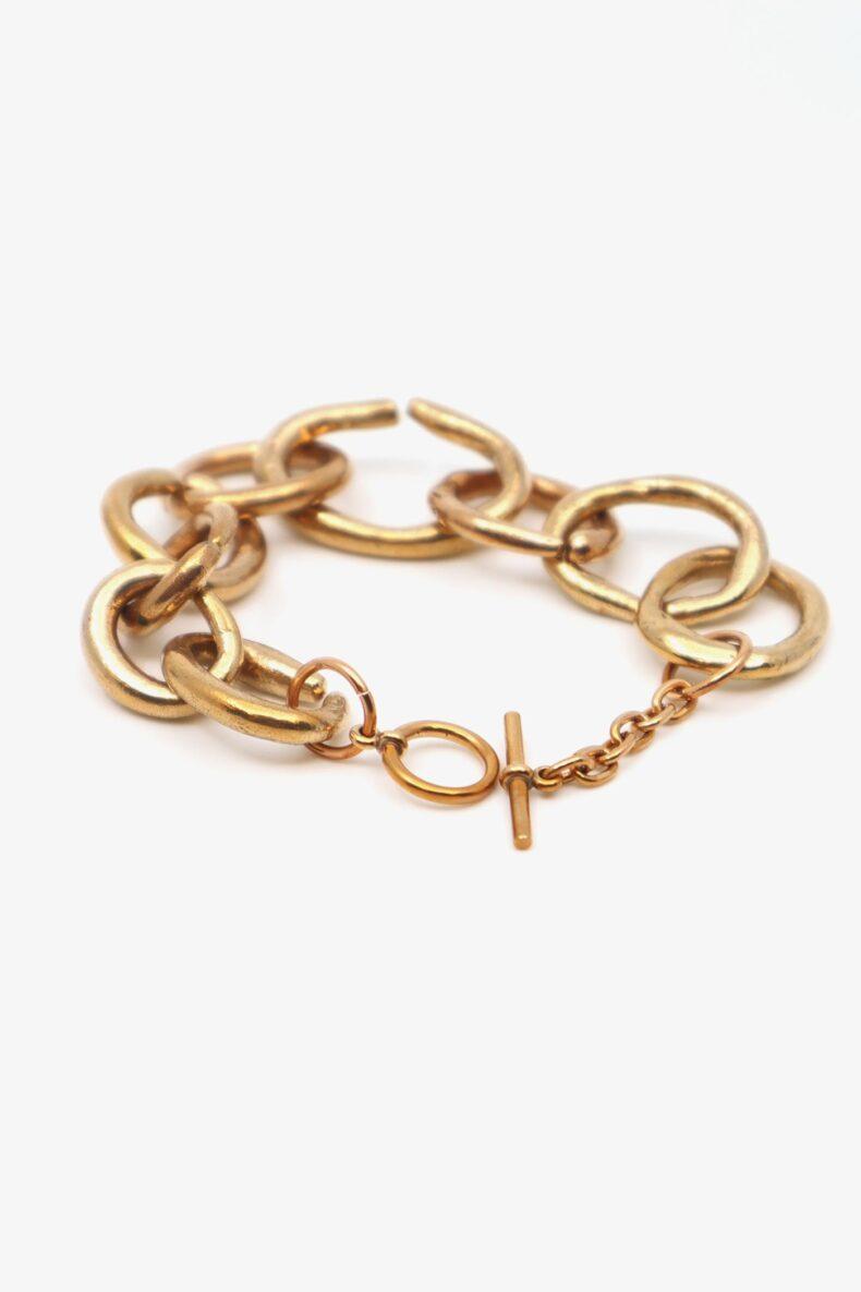 lili t. link bracelet laufmeter handgemachte armkette aus bronze