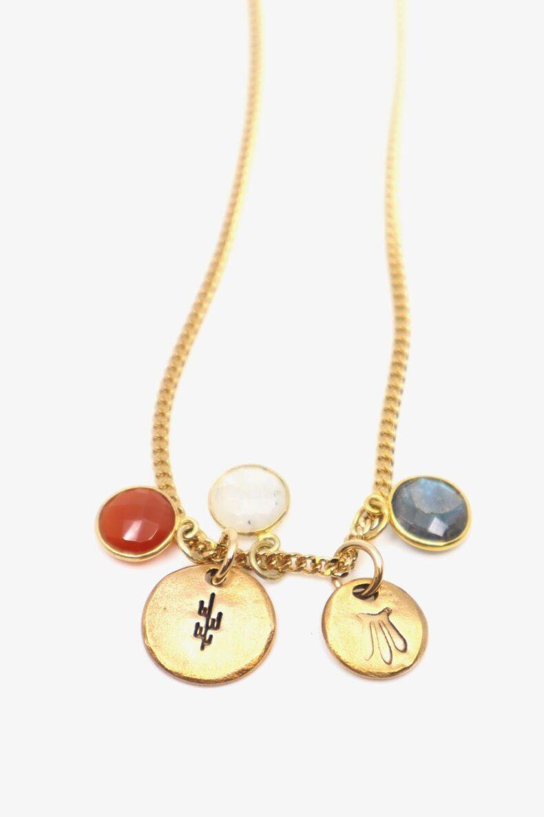 lili t. rainbow necklace laufmeter halskette mit edelsteinen
