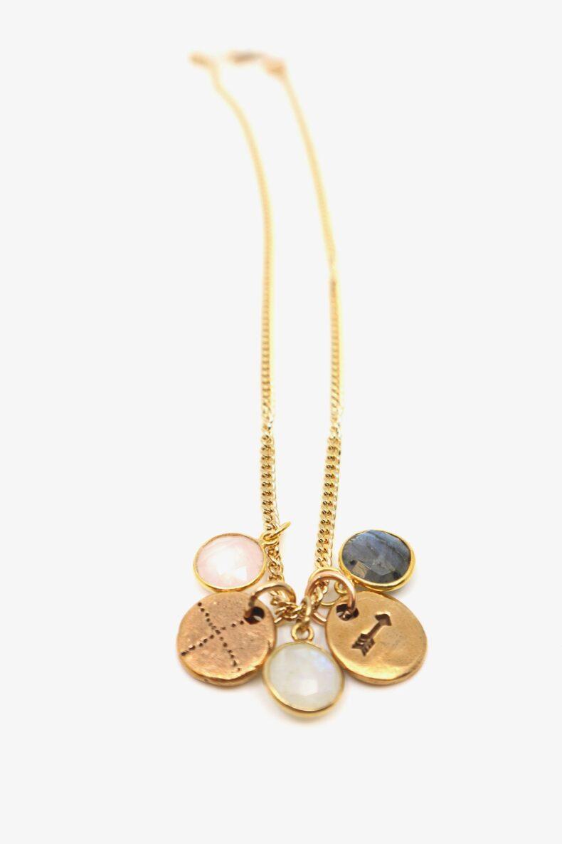 lili t. rainbow necklace laufmeter lange halskette mit edelsteinen