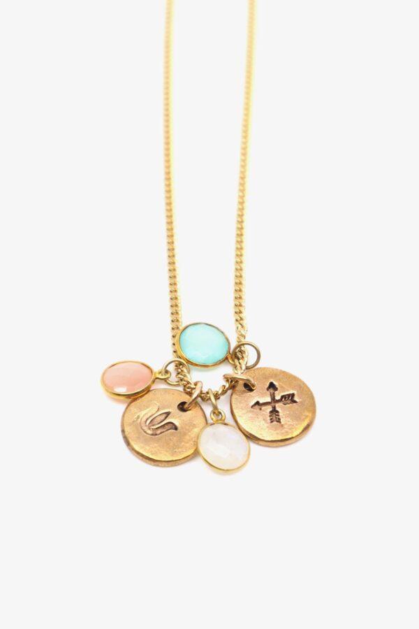 lili t. rainbow necklace laufmeter halskette mit amulett