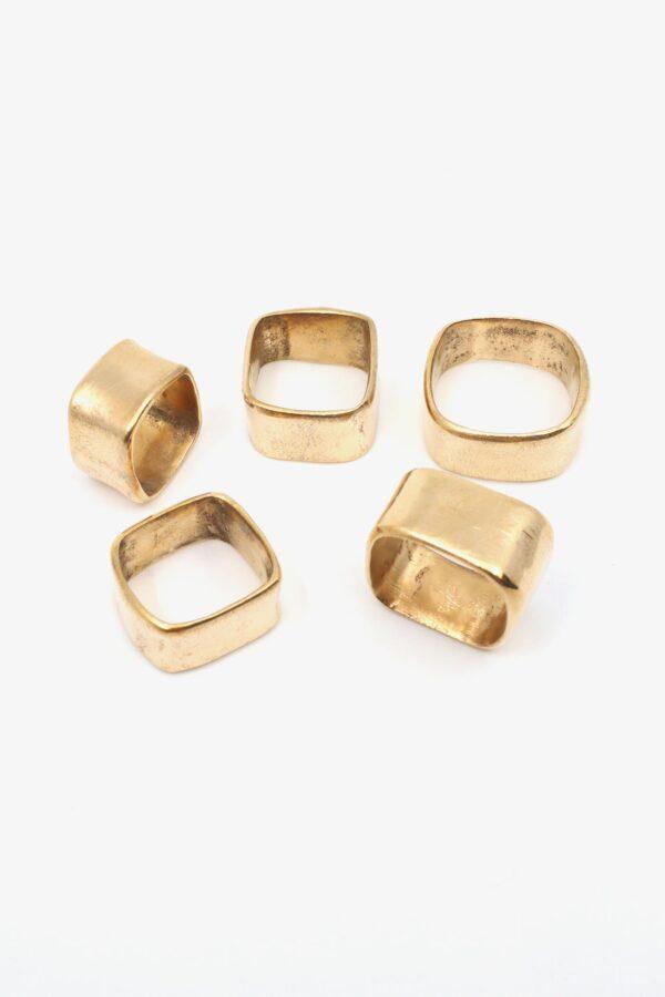 lili t. square ring bronze laufmeter