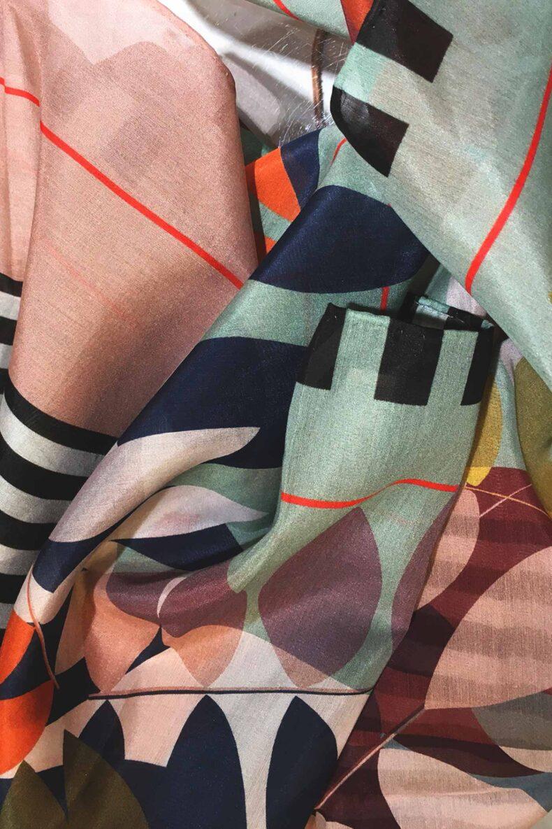 Schal Ash aus Baumwolle und Seide von Nathalie Pellon
