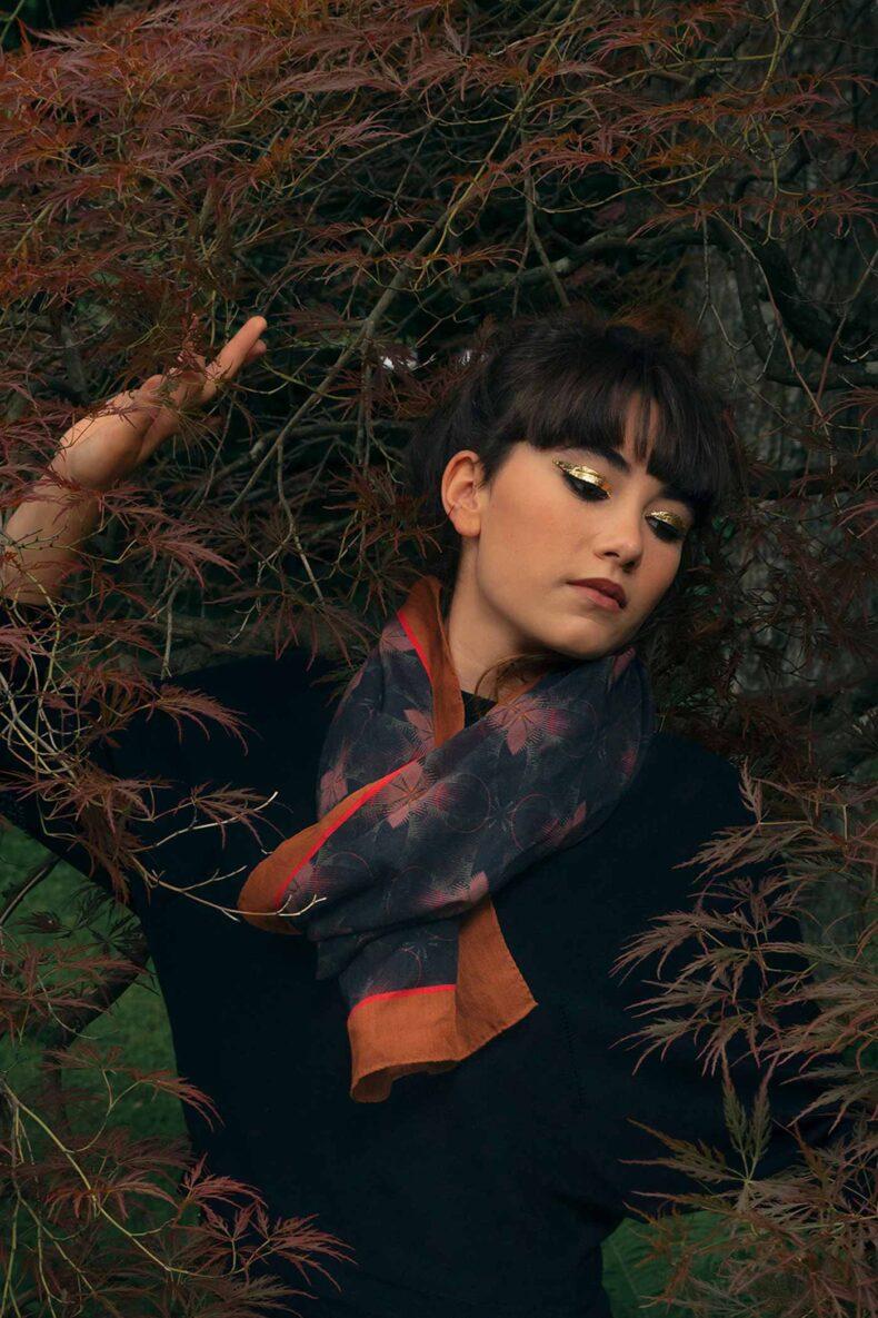 Wollschal «Blanche-Rose» von Nathalie Pellon