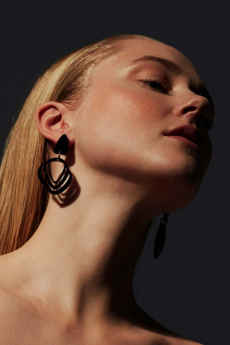 Ohrringe aus Acrylglas Vanto Illuska Black