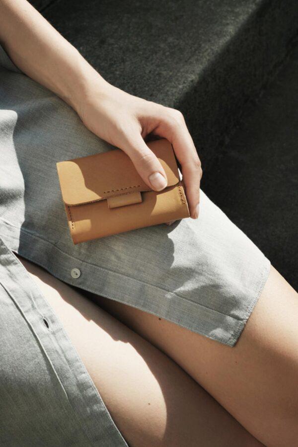 Portemonnaie aus Bio-Rindsleder