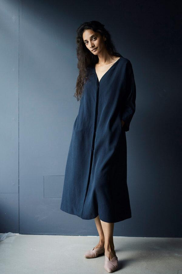 Kleid aus Tencel und Leinen