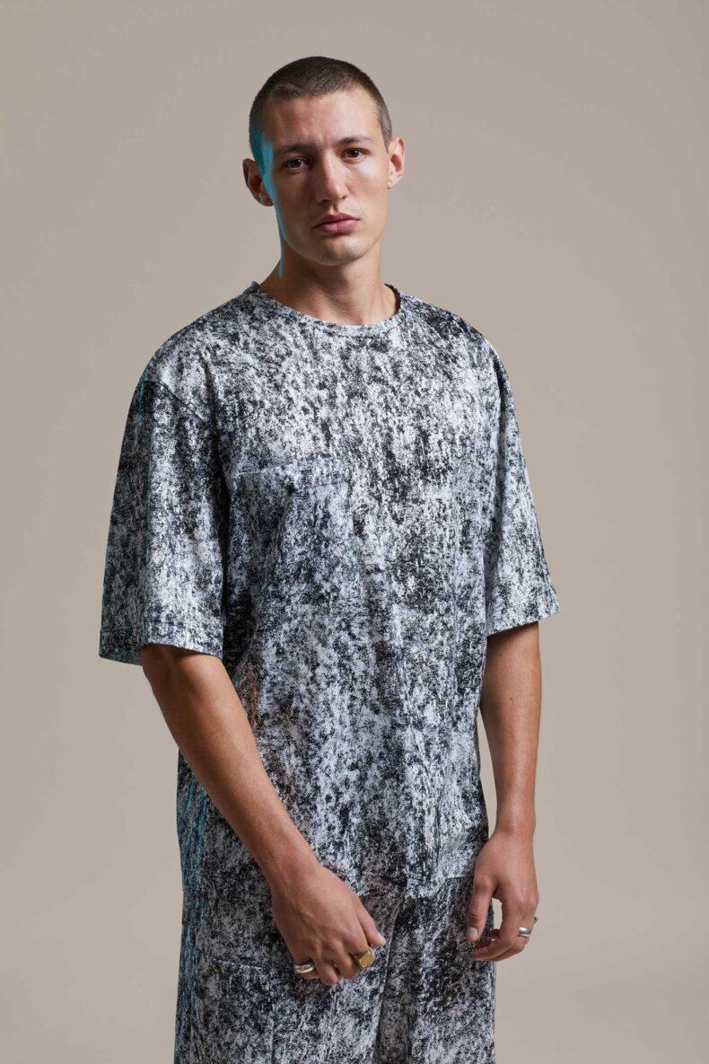 T-Shirt mit Print von J.Grubenmann