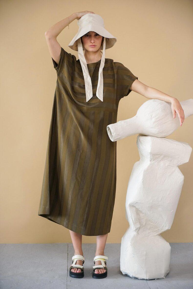 Kleid aus Cupro