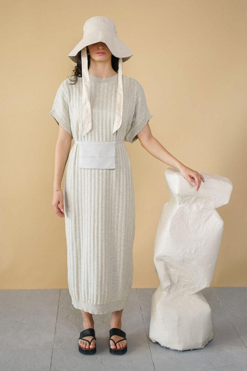 Kleid in Rippenoptik